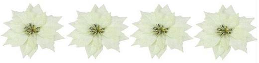 Dekoclip-Set 4-tlg. - Weiß, Kunststoff/Metall (11/5/11cm)