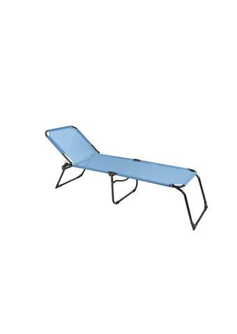 TRONOŽNA LEŽALJKA - svijetlo plava, Design, metal/tekstil (208/41/58cm) - Ambia Garden