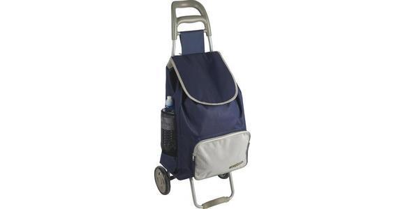 EINKAUFSTROLLEY - Blau/Grau, KONVENTIONELL, Kunststoff/Textil (39/32/94cm) - Boxxx