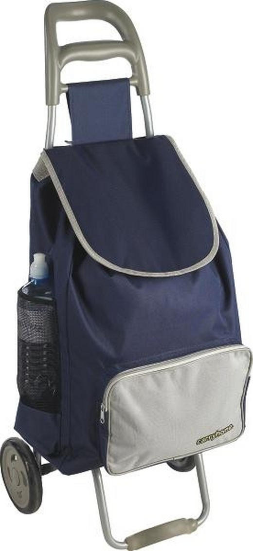KOLICA ZA KUPOVINU - siva/plava, Basics, tekstil/metal (39/32/94cm) - BOXXX