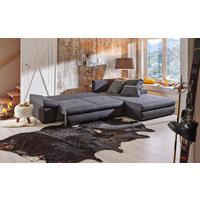WOHNLANDSCHAFT in Textil Anthrazit, Grau  - Anthrazit/Schwarz, Design, Kunststoff/Textil (313/215cm) - Carryhome