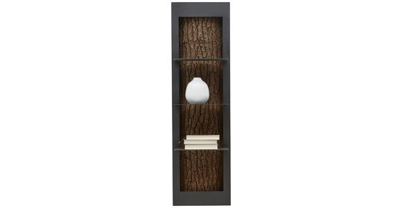 HÄNGEELEMENT Kerneiche vollmassiv Anthrazit, Eichefarben  - Eichefarben/Anthrazit, Design, Holz/Metall (38,5/134,5/29cm) - Valnatura