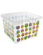 BOX S VÍKEM - průhledné/vícebarevná, Basics, umělá hmota (39/39/26cm) - Plast 1