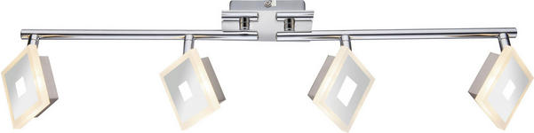 LED-STRAHLER - Chromfarben, Design, Glas/Kunststoff (69/17,5cm) - Novel