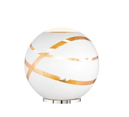 TISCHLEUCHTE - Chromfarben/Goldfarben, LIFESTYLE, Glas/Metall (30,0/30,0cm)