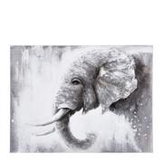 Tiere ÖLGEMÄLDE - Multicolor, LIFESTYLE, Holz/Textil (90/120cm) - Monee