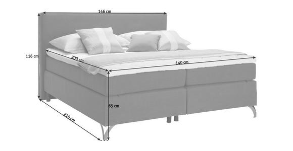 BOXSPRINGBETT 140/200 cm  in Schwarz  - Schwarz/Kupferfarben, KONVENTIONELL, Textil/Metall (140/200cm) - Esposa