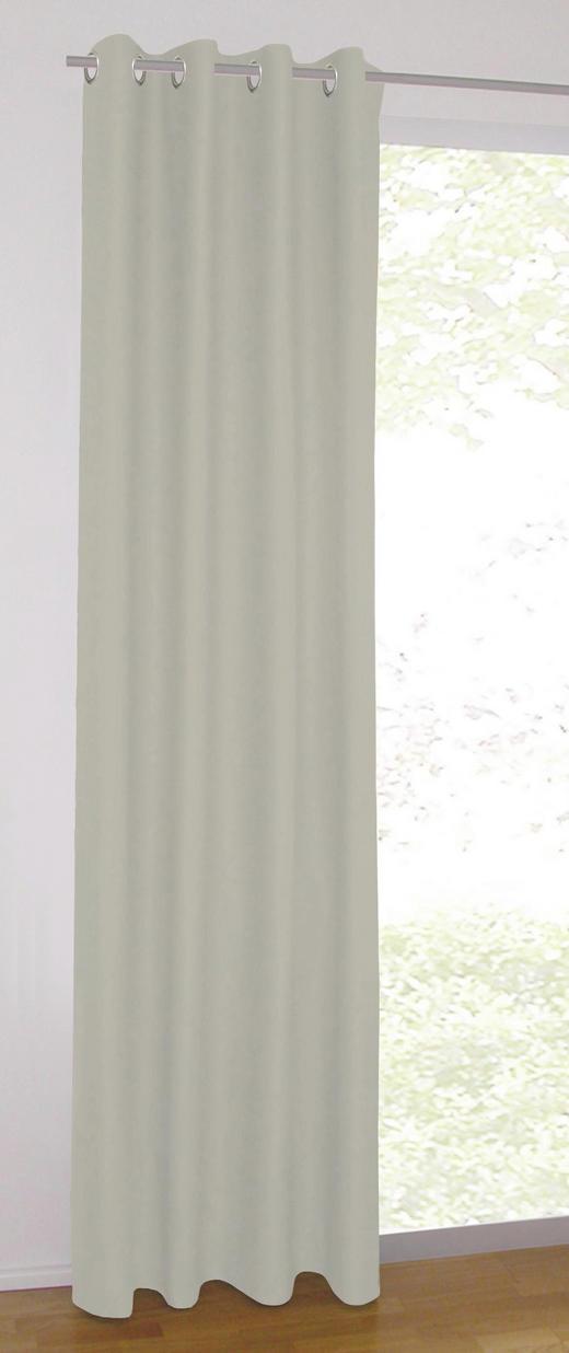 ÖSENSCHAL  blickdicht   140/245 cm - Taupe, Basics, Textil (140/245cm)