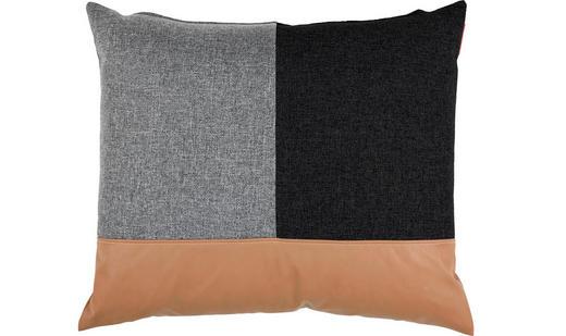 KISSEN 65/65 cm - Schwarz/Braun, Design, Textil (65/65cm) - Innovation
