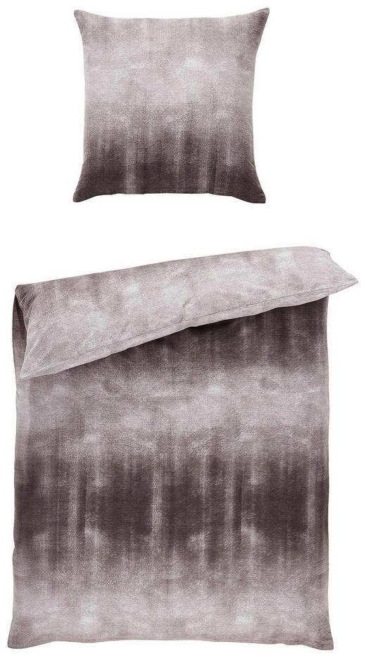 BETTWÄSCHE Flanell Anthrazit, Silberfarben 135/200 cm - Anthrazit/Silberfarben, Basics, Textil (135/200cm) - NOVEL