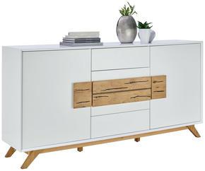 SIDEBOARD - vit/ekfärgad, Design, trä/träbaserade material (178/89/40cm) - Xora