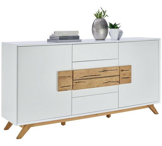 KOMODA SIDEBOARD, dub, bílá, barvy dubu - bílá/barvy dubu, Design, dřevo/kompozitní dřevo (178/89/40cm) - Xora