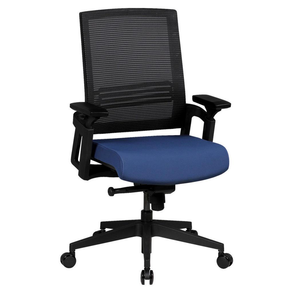 MID.YOU Schreibtischstuhl webstoff blau