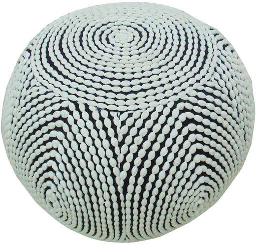 POUF Schwarz, Weiß - Schwarz/Weiß, Design, Textil (50/35/50cm) - Carryhome