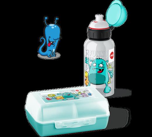 Kinder-Pausenset - Mintgrün, KONVENTIONELL, Kunststoff (0,4l) - Emsa
