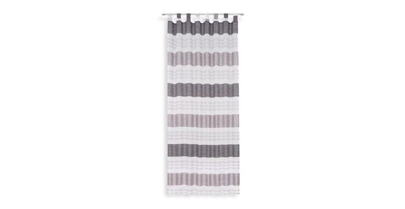 Vorhang mit Schlaufen und Band Ulli B 140cm Schwarz/Grau/Weiß - Schwarz, MODERN, Textil (140/255cm) - Luca Bessoni