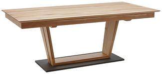 ESSTISCH in Holz, Holzwerkstoff 180(225)/90/77 cm   - Eichefarben/Schwarz, KONVENTIONELL, Holz/Holzwerkstoff (180(225)/90/77cm) - Dieter Knoll