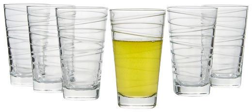 GLÄSERSET 6-teilig - Klar, Basics, Glas (16/13,7/24,5cm) - Leonardo