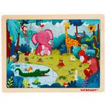 PUZZLE - Blau/Pink, Basics, Holz (30/22,5/0,8cm) - My Baby Lou