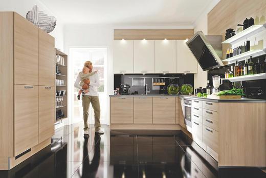 Einbauküche akaziefarben konventionell nolte küchen