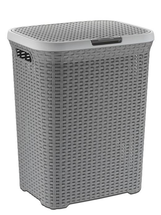 WÄSCHETONNE - Grau, Basics, Kunststoff (43,5/34/55,5cm)