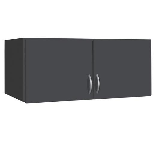 AUFSATZSCHRANK 91/39/54 cm Grau  - Silberfarben/Grau, Design, Holzwerkstoff/Kunststoff (91/39/54cm) - Carryhome