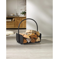 Holzkorb - Schwarz, KONVENTIONELL, Metall (42/30/45cm) - Ambia Home