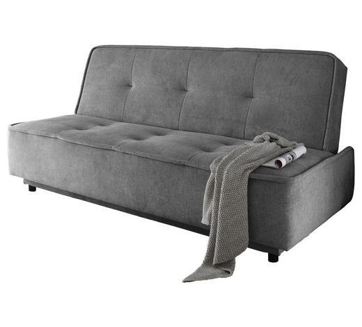SCHLAFSOFA Grau - Schwarz/Grau, MODERN, Kunststoff/Textil (206/95/95cm) - Carryhome