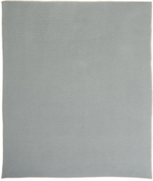 SCHMUSEDECKE 80 100  cm - Creme/Hellblau, Basics, Textil (80 100 cm) - Patinio