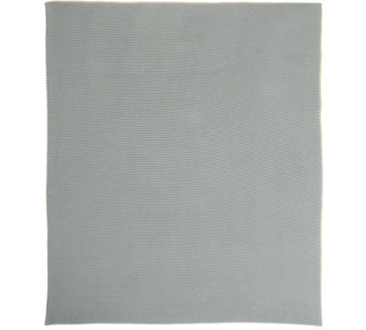 SCHMUSEDECKE 80/100 cm - Creme/Hellblau, Basics, Textil (80/100cm) - Patinio