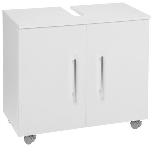 WASCHBECKENUNTERSCHRANK Weiß - Chromfarben/Schwarz, Design, Holzwerkstoff/Kunststoff (65/58,5/31.3cm) - Xora