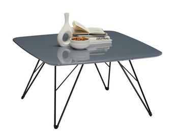 KLUBSKA MIZA, črna, siva - črna/siva, Design, kovina/leseni material (80/80/42cm) - Carryhome