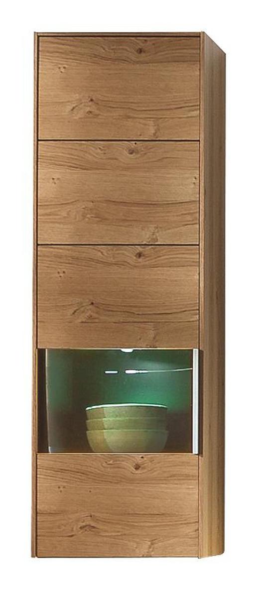 HÄNGEELEMENT Wildeiche furniert Eichefarben - Eichefarben/Alufarben, Design, Glas/Holz (37/113/35cm) - MUSTERRING