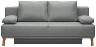 SCHLAFSOFA Grau - Naturfarben/Grau, Design, Holz/Textil (192/92/90cm) - Novel
