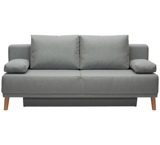 SCHLAFSOFA in Textil Grau - Naturfarben/Grau, Design, Holz/Textil (192/92/90cm) - Novel