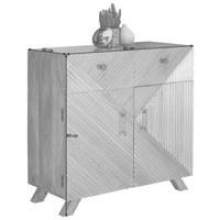 KOMMODE - Silberfarben/Goldfarben, Trend, Holz/Metall (90/90/40cm)