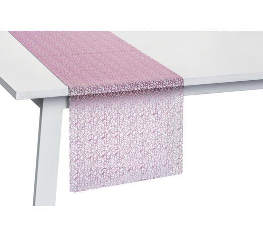TISCHLÄUFER Textil Netz Rosa 45/140 cm  - Rosa, Basics, Textil (45/140cm)