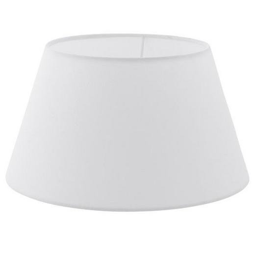 LEUCHTENSCHIRM  Weiß  Textil  E27 - Weiß, Design, Textil (30/16,5cm) - AMBIA HOME