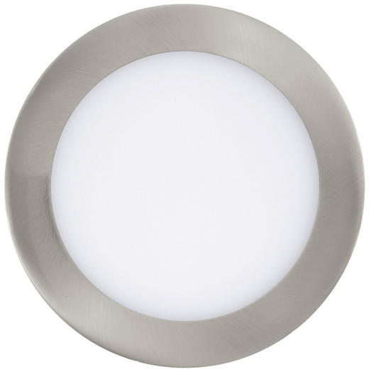 EINBAULEUCHTE Fueva - Silberfarben/Weiß, Basics, Metall (17cm)