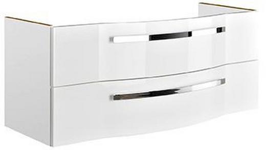 WASCHTISCHUNTERSCHRANK Weiß - Chromfarben/Weiß, KONVENTIONELL, Holzwerkstoff/Metall (115/48,2/48,1cm) - Xora