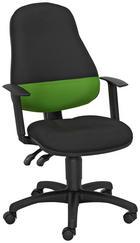 OTOČNÁ ŽIDLE - černá/zelená, Konvenční, textil/umělá hmota (46/98-118/35cm) - Cantus