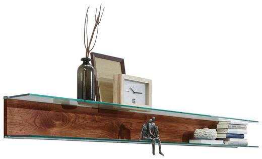 WANDBOARD Kernnussbaum furniert Nussbaumfarben - Nussbaumfarben, Design, Glas/Holz (228,8/21,2/23,8cm) - Ambiente by Hülsta
