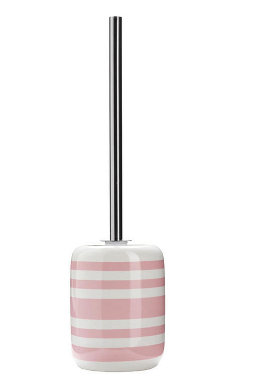 WC-BÜRSTENGARNITUR in Kunststoff - Alufarben/Rosa, KONVENTIONELL, Keramik/Kunststoff (11,7/39,5cm) - Kleine Wolke