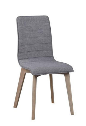 STOL - vit/grå, Design, trä/textil (49/89/50cm) - Rowico