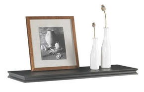 VÄGGHYLLA, 80 CM - svart, Lifestyle, träbaserade material (80/3,8/23cm) - Landscape