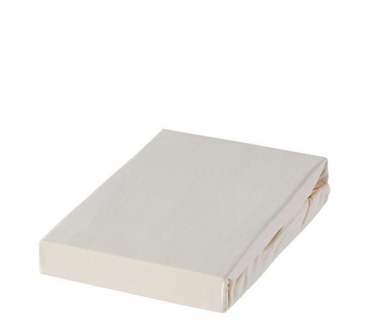 PROSTĚRADLO NAPÍNACÍ, froté, 100/200 cm - krémová, Basics, textil (100/200cm) - Novel