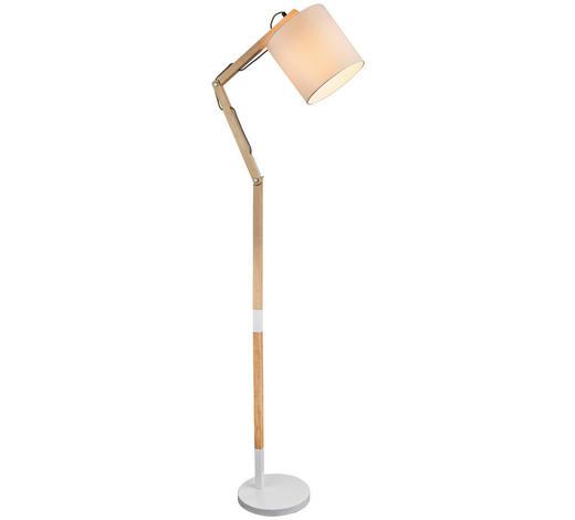 STEHLEUCHTE - Weiß, Design, Holz/Textil (49,5/157cm) - Marama