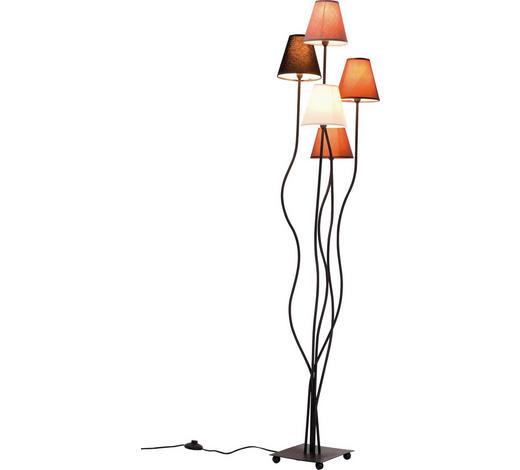 STEHLEUCHTE - Multicolor/Schwarz, Design, Textil/Metall (40/163/35cm) - Kare-Design