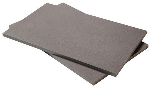 EINLEGEBODENSET - Grau, Design, Holzwerkstoff (105,2/2,2/51,5cm) - Carryhome
