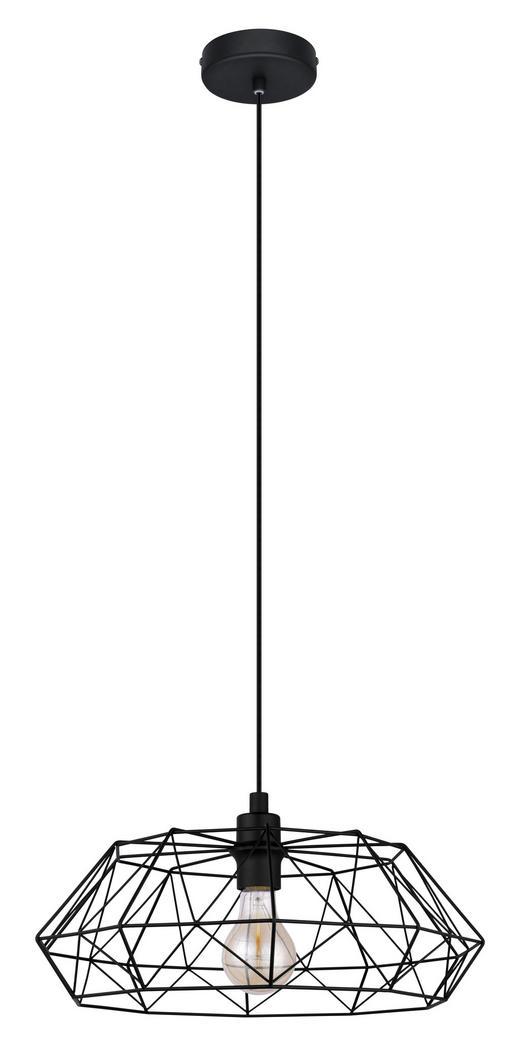 HÄNGELEUCHTE - Schwarz, LIFESTYLE, Metall (45,5/110cm)